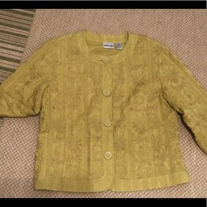 Chico's Chartreuse Jacket Size 2